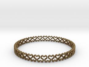 Bracelet heart  in Natural Bronze