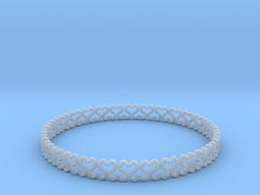 Bracelet heart  in Smooth Fine Detail Plastic