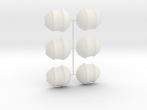 3 Parts Model in White Natural Versatile Plastic