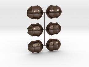 3 Parts Model in Polished Bronze Steel