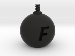 F-Bomb - Large in Black Natural Versatile Plastic