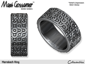 Marrakech Ring in Polished Silver