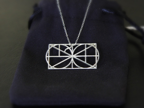 A Monogram Of The Alphabet Pendant  in Fine Detail Polished Silver