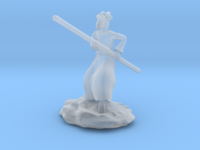 Dragonborn Monk in Robes with Quarterstaff in Smooth Fine Detail Plastic