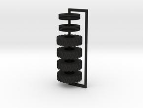 1/64 Dominator #6 Tires  in Black Acrylic