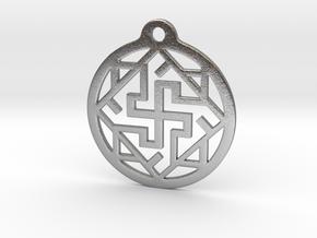 Swasthik / Kolam Pendant in Natural Silver