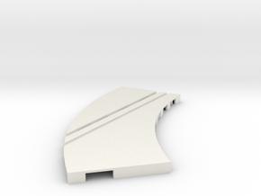 P-65stp-curve-lh-junction-inner-145r-100-pl-1a in White Natural Versatile Plastic