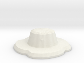 Flan in White Natural Versatile Plastic