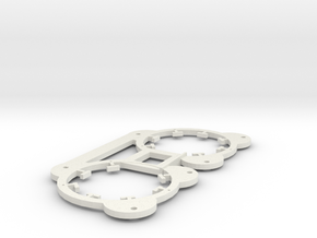 BETA - Twin Inner Coil For Two Disc Set Up in White Natural Versatile Plastic