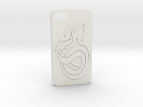 Iphone 4 Case - Dragon in White Natural Versatile Plastic