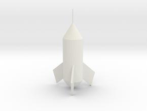 Rocket in White Natural Versatile Plastic