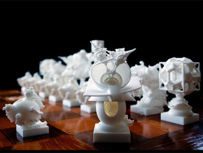 Surreal Chess Set - My Masterpieces -  Bishop II in White Natural Versatile Plastic