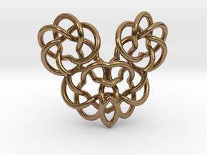 Heart/Skull (small) in Natural Brass