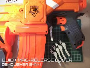 Quick Mag-release (Nerf Demolisher)  in White Strong & Flexible