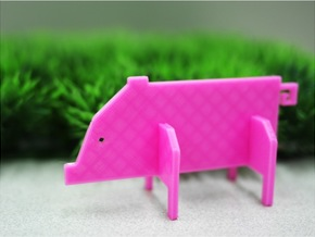 Animal_Pig in White Natural Versatile Plastic