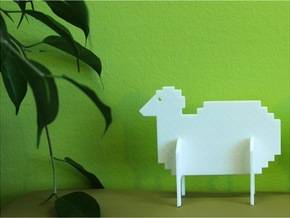 Animal_Sheep in White Natural Versatile Plastic