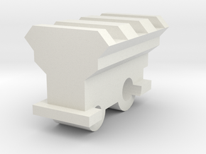 20mm rail mount for Nerf Retaliator Barrel  in White Natural Versatile Plastic