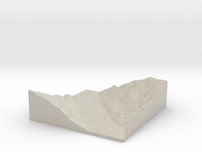 Model of Kimsquit River in Natural Sandstone