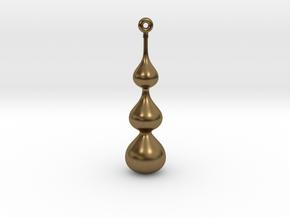Water Drop Pendant in Natural Bronze
