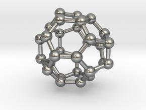0008 Fullerene c30-3 in Natural Silver