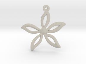 Flower pendant in Natural Sandstone