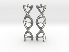 DNA Earring in Natural Silver