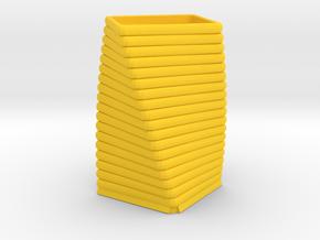 Candle Vase in Yellow Processed Versatile Plastic