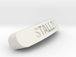 STALLZY Nameplate for SteelSeries Rival in White Natural Versatile Plastic