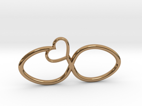 Eternal Heart Pendant in Polished Brass