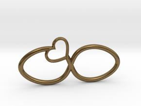 Eternal Heart Pendant in Natural Bronze