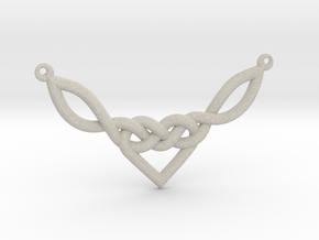 Celtic Heart Knot Pendant in Natural Sandstone