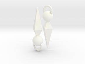 Ishtar Earrings in White Processed Versatile Plastic