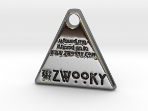 ZWOOKY Style 35 - u found me / pet tag - bail in Fine Detail Polished Silver