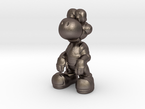 Yoshi [Charm] in Polished Bronzed Silver Steel