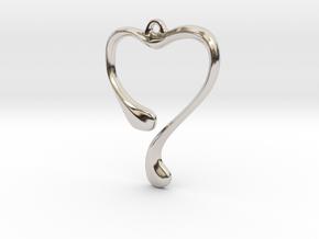 Heart shape pendant in Platinum