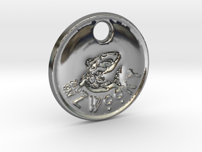 ZWOOKY Style 98 Sample - keychain shark in Fine Detail Polished Silver