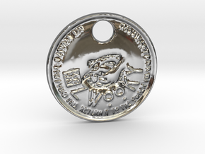 ZWOOKY Style 97 Sample - keychain shark in Fine Detail Polished Silver