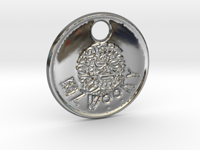 ZWOOKY Style 84 Sample - keychain head in Premium Silver