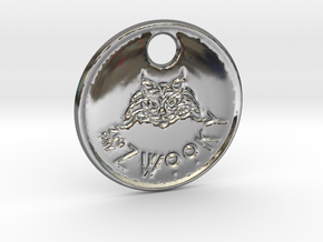 ZWOOKY Style 79 Sample - keychain cat in Fine Detail Polished Silver