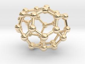 0010 Fullerene c32-1 c2 in 14K Yellow Gold