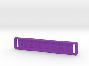 ZWOOKY Style 18 Sample - bag tag in Purple Processed Versatile Plastic