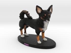 Custom Dog Figurine - Tink in Full Color Sandstone
