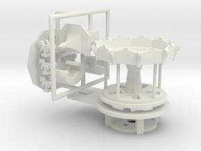 Minibodenmühle - Antrieb 1:220 (Z scale) in White Natural Versatile Plastic