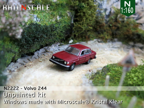 Volvo 244 DL (N 1:160) in Smooth Fine Detail Plastic