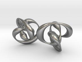 Knots earrings in Raw Silver