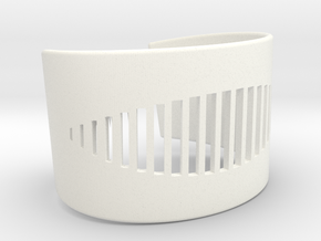 Wristcuff - pattern cutout (small) in White Processed Versatile Plastic