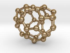 0016 Fullerene c34-1 c2 in Polished Gold Steel