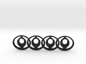 Mazda Audi Car Badge Mashup in Black Natural Versatile Plastic