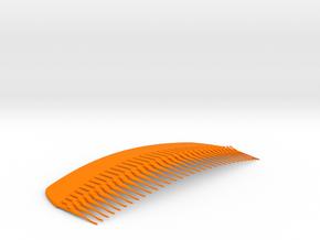 French Comb in Orange Processed Versatile Plastic