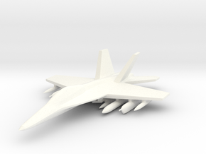 1/285 EA-18 Growler in White Strong & Flexible Polished